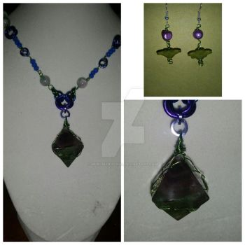 Fluorite necklace by MurcMarischal