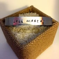 Jedi Master stamped bracelet by theevergreenburrow