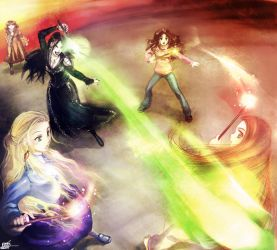HP7 Spoiler Battle of Hogwarts by Tidi-Lebre