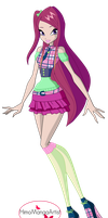 Winx Club Roxy 7th season outfit by HimoMangaArtist