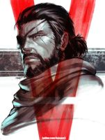 MGSV Big Boss by kasai