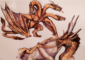 Ghidorah by legendfromthedeep
