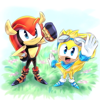 Mighty and Ray by Y-FireStar