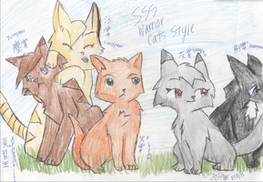 Apprentices SSS Warrior Cats Style by annamon54