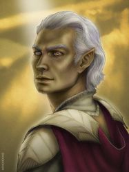 Male Aasimar by sporeboy