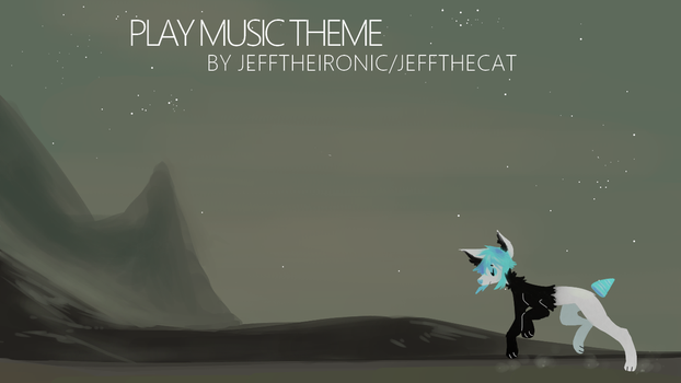 OC Play Music Theme (cape) by JeffTheIronic