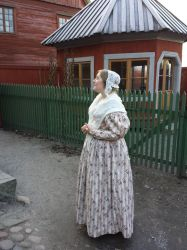 1830's day dress by LadyCafElfenlake