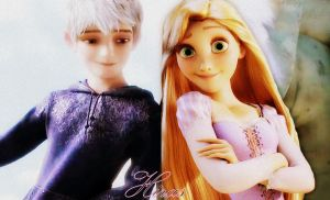 Rapunzel and Jack Frost by Hiras