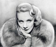 Marlene Dietrich by MLS-art