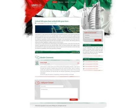 UAE Blog - Wordpress theme by OneOusa
