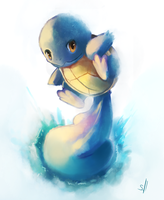Squirtle Painting by salanchu