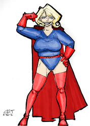 Blonde Marvel Pinup finished by GilTriana