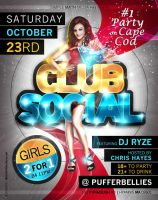Club Social Flyer 5 by AnotherBcreation