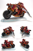 Pre-Heresy Thousand Sons Bike Sergeant by skycat