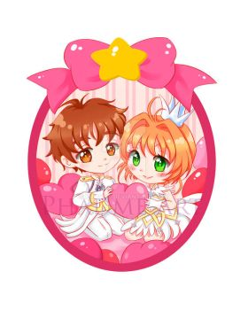 Syaoran and Sakura Card Captor Sakura Clear Card by Phadme