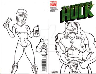 Incredible Nash sketch cover by Chainsaw-Munkey