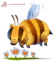 Daily Paint #1148. Honey Badger by Cryptid-Creations