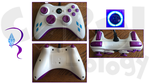 Custom Rarity Xbox 360 Wired Controller by CARDI-ology