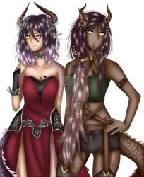 Chante (my OC) and Maylea (OC by Lollipop) ver 2 by RinUchihaa