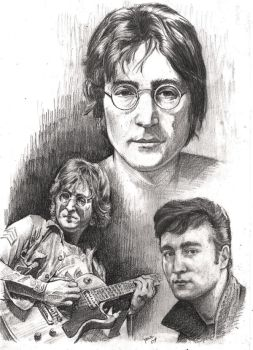 John Lennon by Alleycatsgarden
