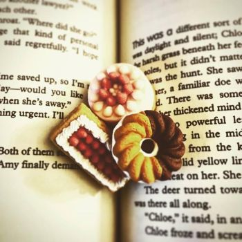 Pastries In Book by Whimsical-Elegance