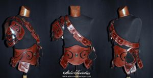 Simple leather armor set by AtelierFantastique