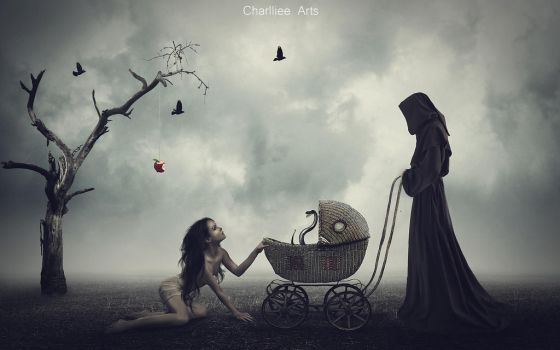 The Birth Of Sin by CharllieeArts