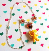 Handmade Card Captor Sakura Kero-chan necklace by SimonaZ
