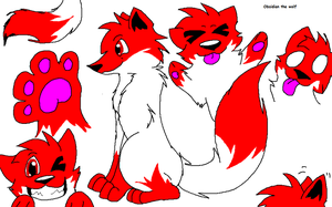 That Red and White wolf you love so much! by Obsidianthewolf