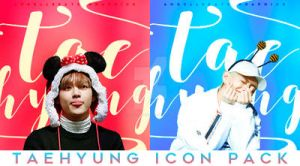 Taehyung Icon Pack by AngellBeats