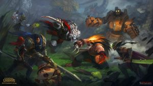 Epic Battle League of Legends funart! by Guro