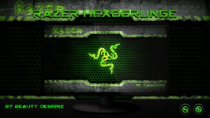 Razer HexoGrunge Wallpaper - By BeautyDesignz by BeautyDesignz