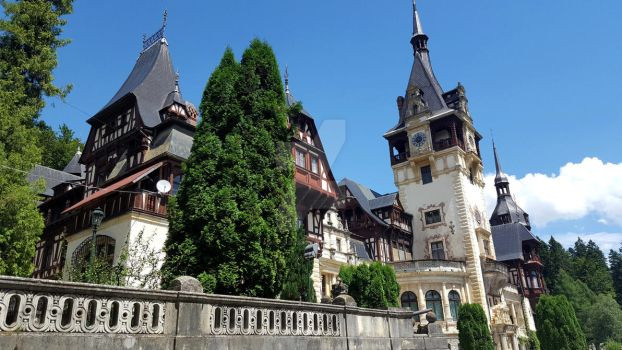 Famous royal castle Peles in Sinaia, Romania. by Ambasador381