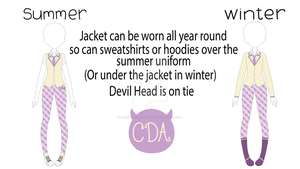 CDA Summer and Winter Uniform {Male} by TheCherryMonsterLu