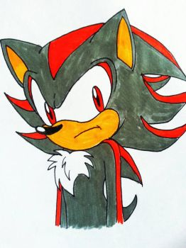 Inktober 11 Shadow the hedgehog by Fire-Miracle