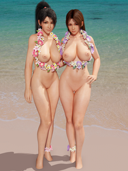 DOA Momiji and Mai by RadiantEld