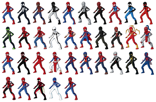 Spider-Man Alternate Versions by RainDante