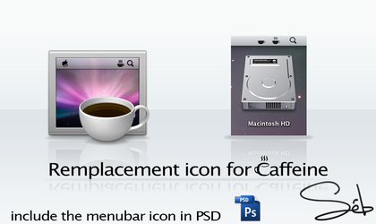 Caffeine remplacement icons by SebDominguez