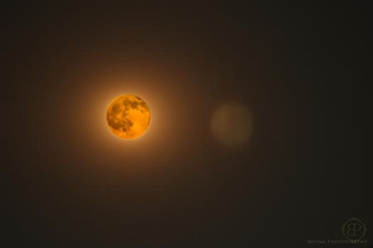 Fire Moon by BivinsPhotography