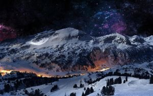 Snowy-mountains-at-night-wallpaper-2 by zotek11