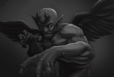The Demon by p-r-i-a-p-u-s