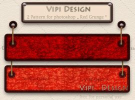 2 Pattern Red Grunge by elixa-geg