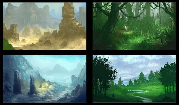 Enviro Sketches by JackEavesArt