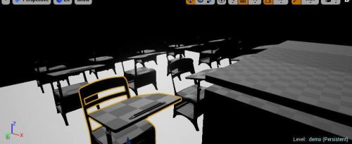 Classroom (incomplete) by ElectricShock27