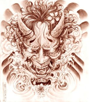 HANNYA MASK by Gorgoncult
