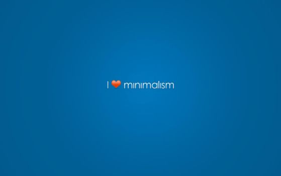 i love minimalism wallpaper by Freeq22