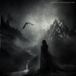 As A Lonely Raven by wyldraven