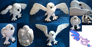 Hedwig Owl from Harry Potter 16'' Posable! by GuardianEarthPlush