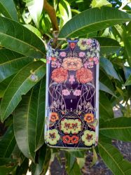 'Orange Floral Crossing' iPhone Case by Zala02Creations