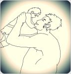 Paneta and her daddy Bree by Mistress-Enbella